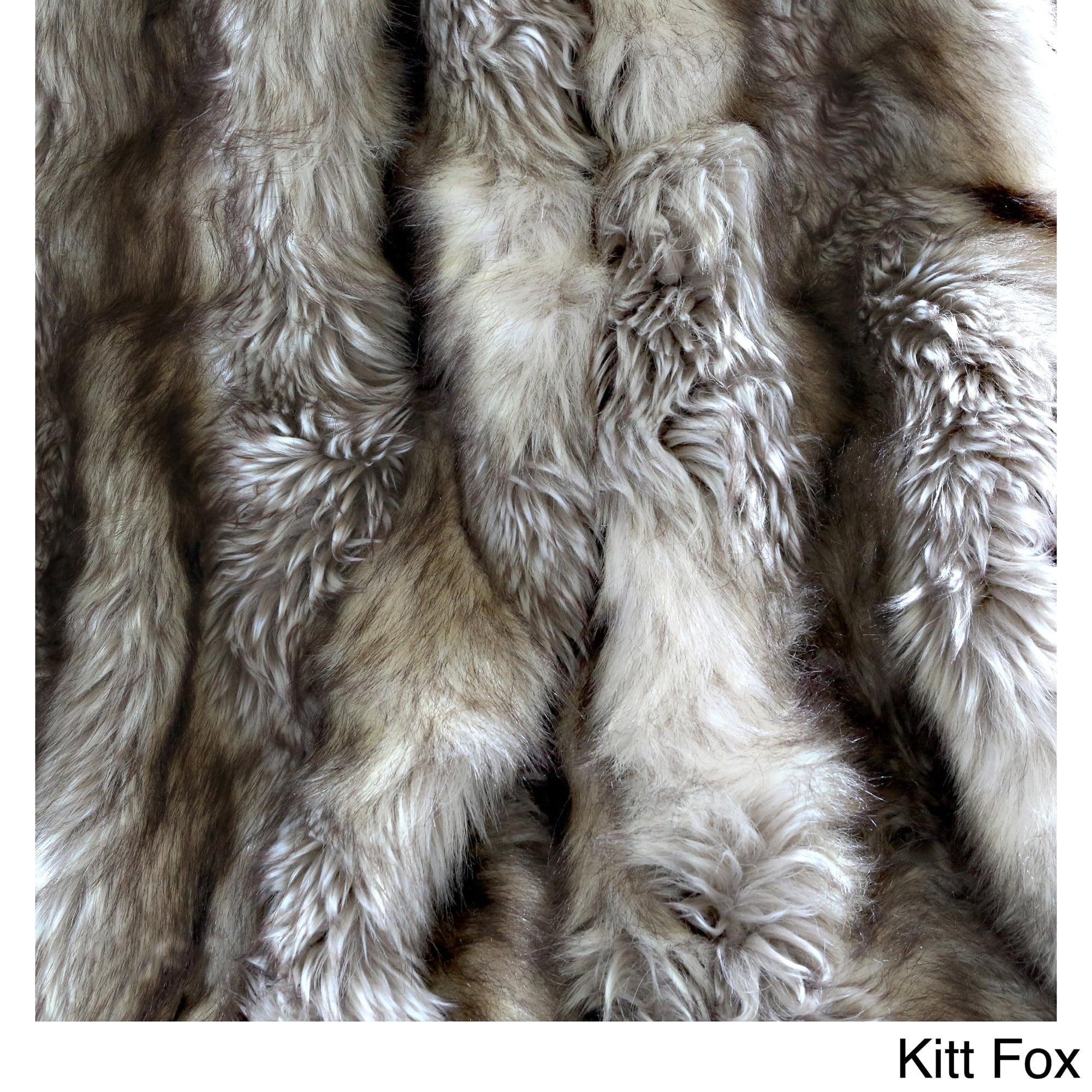 Faux Fur Fabric Walmart - Aurora home wild mannered luxury long hair faux fur lap throw walmart com