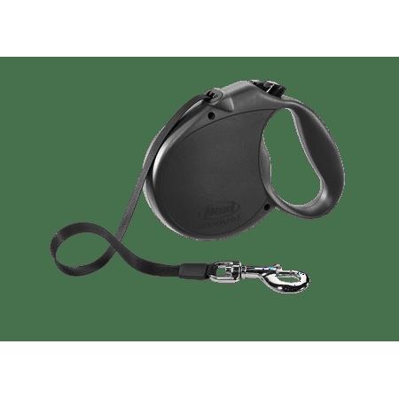 flexi Retractable Dog Leash (Tape), 16 ft, Large, Black