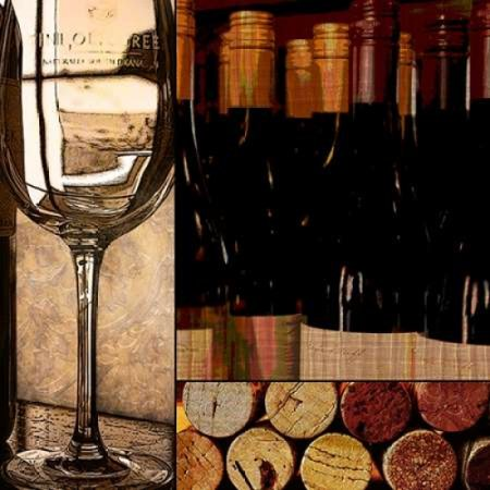 Wine with Dinner Poster Print by Lisa