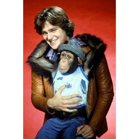 Greg Evigan B.J. and the Bear Tv Show Rare Studio Portrait 24x36 Poster with chimp