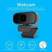 360 USB 720P HD Webcam Camera Autofocus Web Cam w/ Mic For Computer PC Laptop