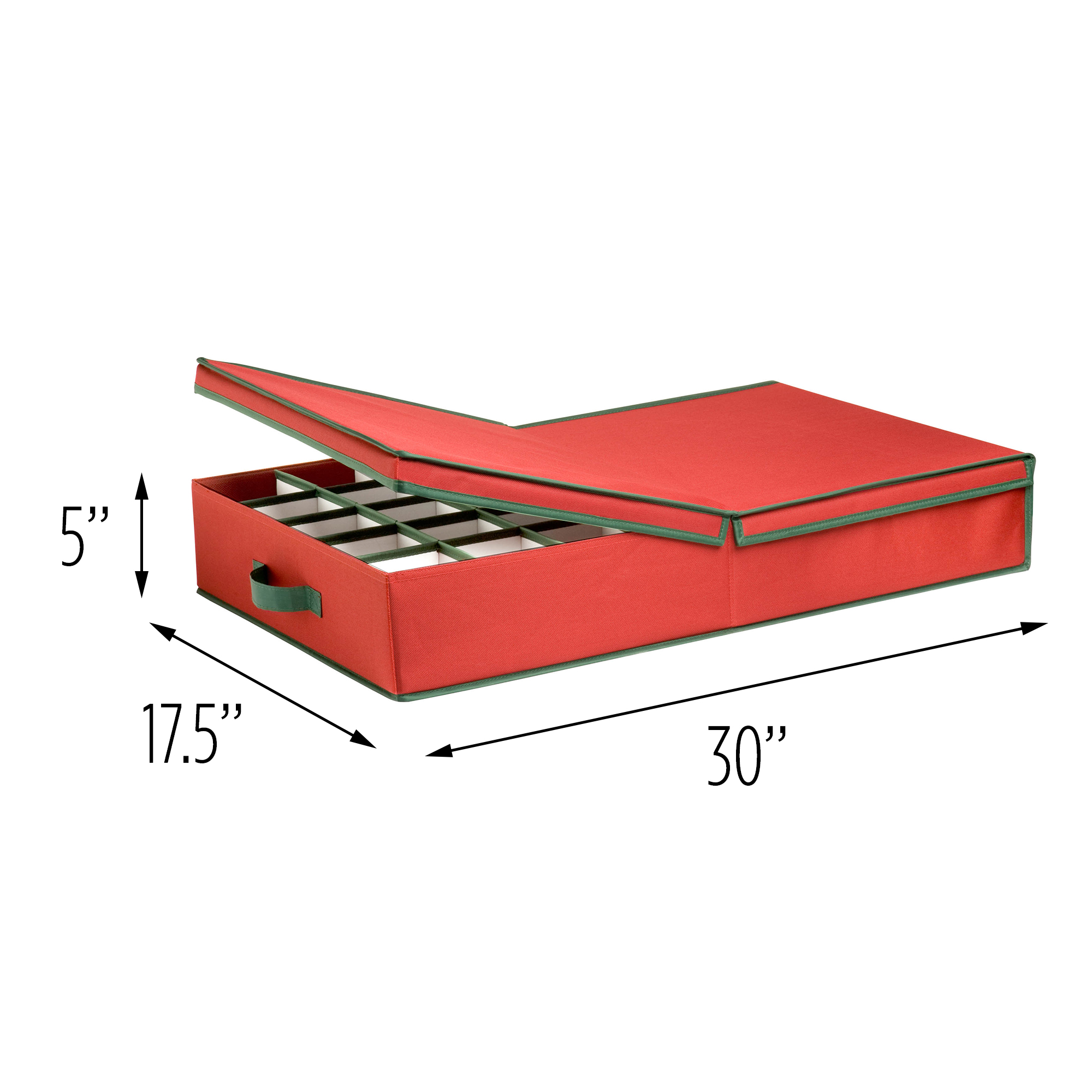 Gentil Honey Can Do Ornament Storage Organizer With Adjustable Dividers, Red/Green    Walmart.com