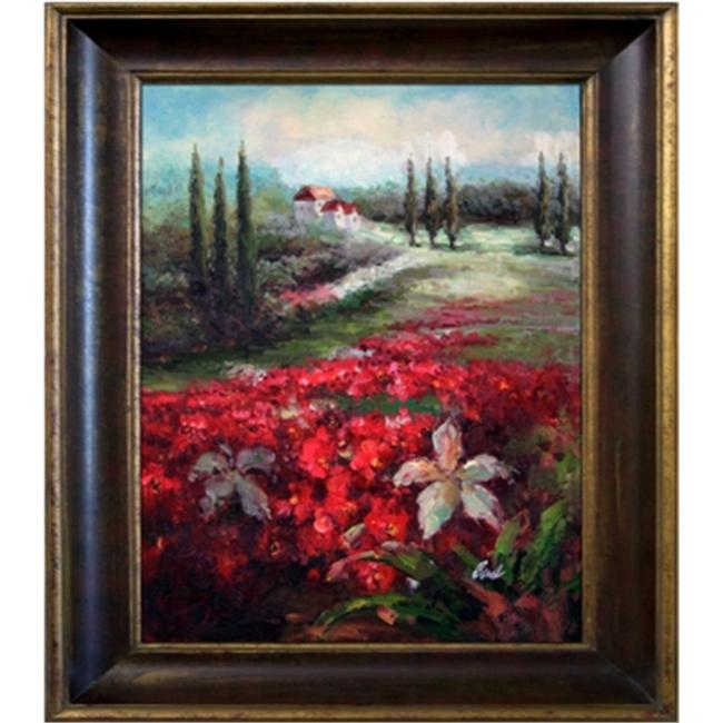 Artmasters Collection KM89830-40G Tuscan Flowers Framed Oil Painting