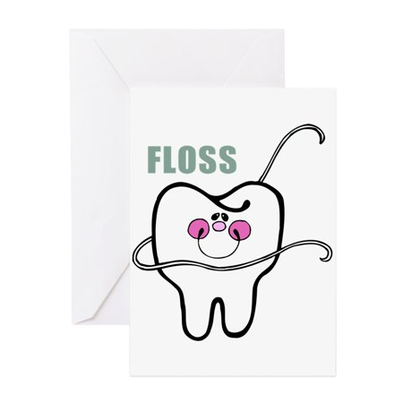 CafePress - Dental Floss Humor - Greeting Card, Blank Inside Glossy](Dental Halloween Humor)