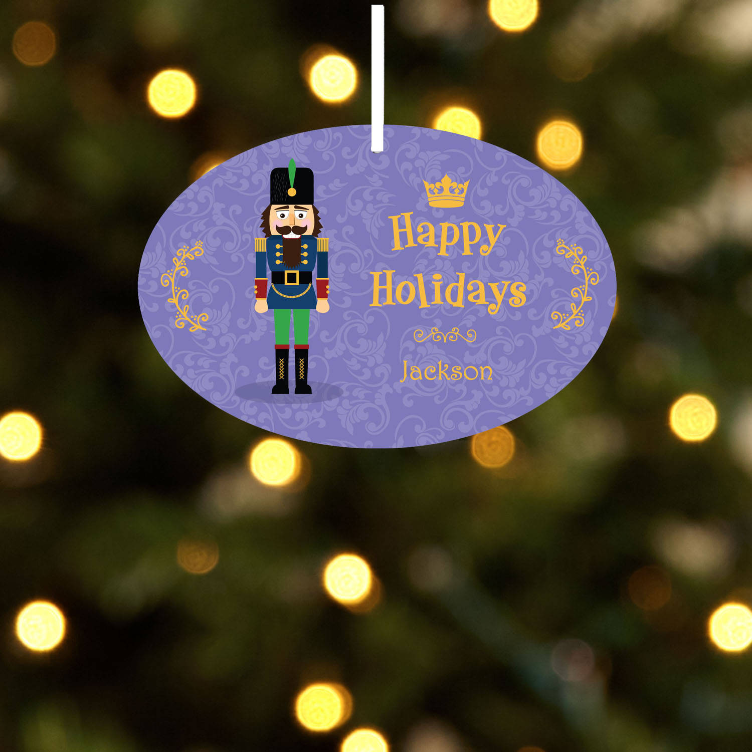 Personalized Nutcracker Christmas Ornament, Individual