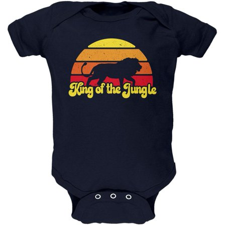 King Of The Jungle Lion Retro Sun Soft Baby One Piece - Baby Lion King