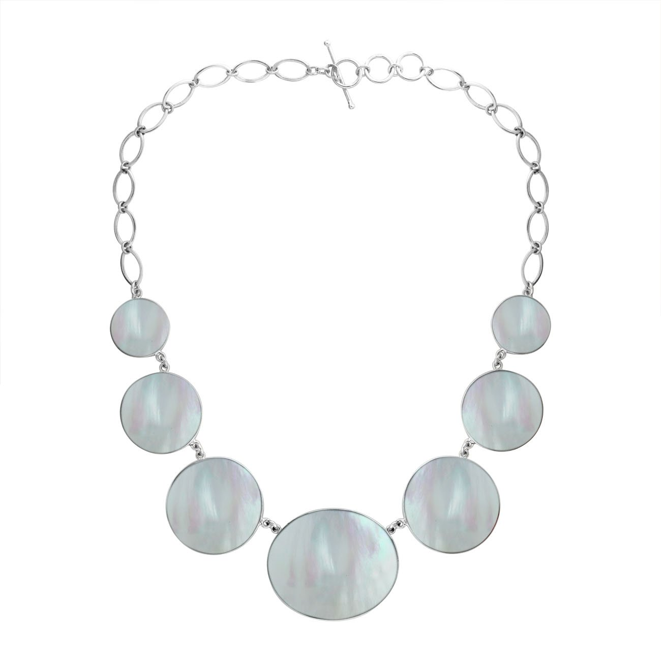 AN-1007-MOP Sterling Silver Necklace With Mother Of Pearl by Bali Designs