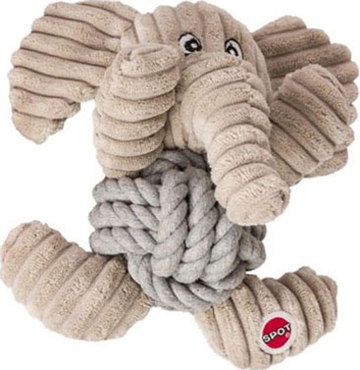 Ethical Dog-Plush Knot For Nothin' Dog Toy- Assorted 6.5in