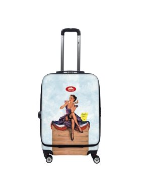 Nuki 014020 Front Accessible Luggage Lightweight Spinner, Pin Up - 20 in.