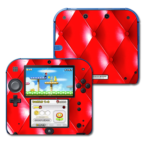 Skin Decal Wrap for Nintendo 2DS sticker Red Upholstery
