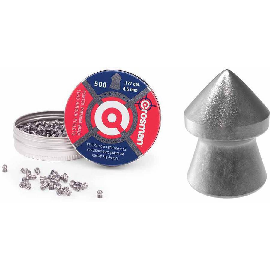 Crosman Pointed .177 Caliber 7.4gr Airgun Pellets, 500ct