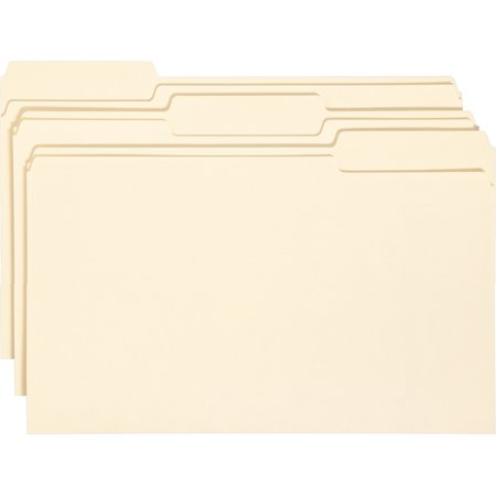 Smead Manila File Folder, 1/3 Tab, Legal Size, 100 per box - Cut Legal Manila File