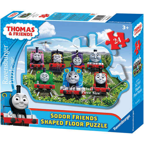 Ravensburger Thomas and Friends: Sodor Friends Shaped Floor Puzzle, 24 Pieces