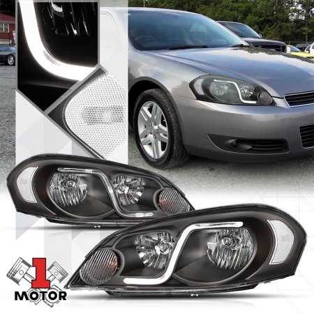 Black Housing Headlight Clear Signal Led Drl For 06 16 Chevy Impala Monte Carlo 07 08 09 10 11 12 13 14 15