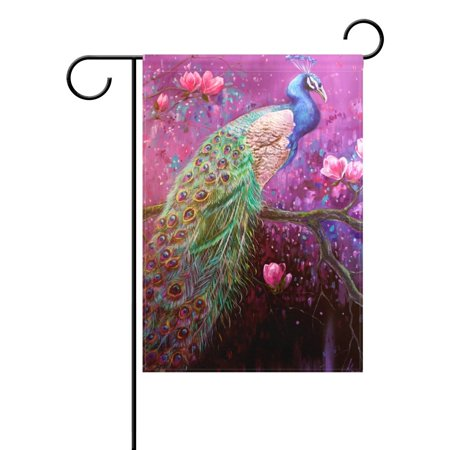 POPCreation Peacock Paintings Polyester Garden Flag12x18 inches Outdoor Flag Home Party Garden - Peacock Party