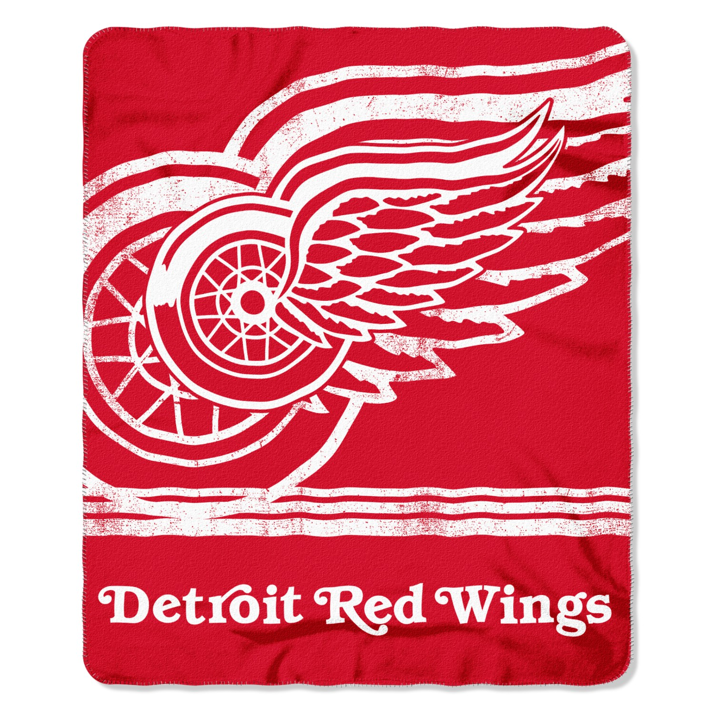 Detroit Redwings Fade Away Fleece Throw
