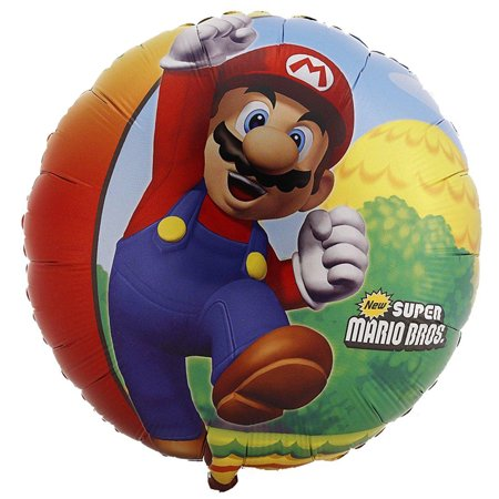 Super Mario Brothers Party Supplies Foil Balloon for $<!---->