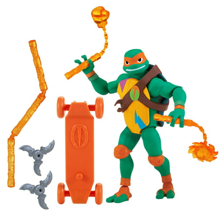 Rise of the Teenage Mutant Ninja Turtle Michelangelo Action Figure - Michelangelo Nunchucks Toy
