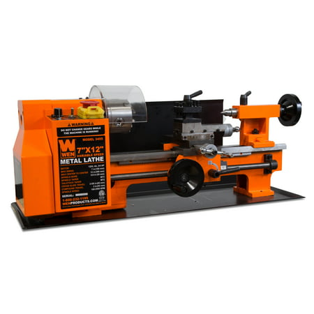 WEN Variable Speed 2-Direction Benchtop Metal Lathe, 7