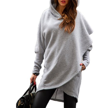 4c9dc8537aa ZANZEA - ZANZEA Women s Loose Long Sleeve Asymmetric Hem Hooded ...