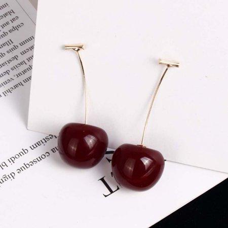 Aofa Women Sweet Cherry Shape Dangle Jacket Earrings Party Jewelry Birthday Gift - image 1 of 7