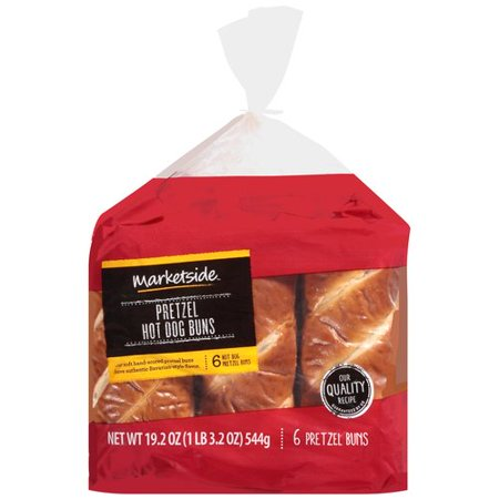 Marketside Pretzel Hot Dog Buns