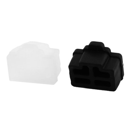 Silicone Laptopn PC Ethernet Hub Port RJ45 Anti Dust Cover Cap Protector Black Clear 20 Pcs - image 1 de 3