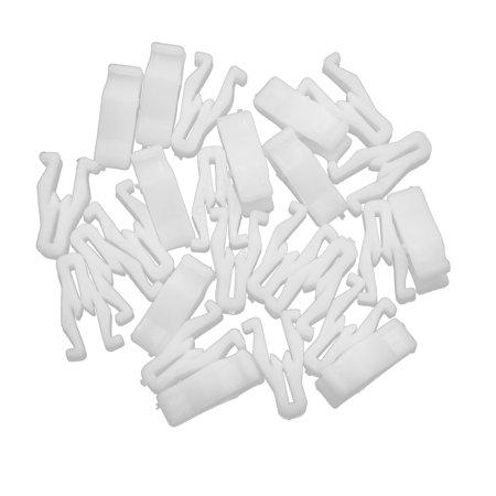 25pcs White Universal Car Auto Console Moulding Trim Retainer Clip Fastener Interior (Auto Interior Fastener)