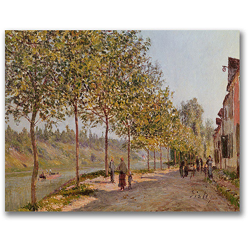 "Trademark Fine Art ""June Morning In Saint-Mammes"" Canvas Wall Art by Alfred Sisley"