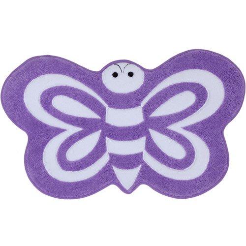 Mohawk Home Shaped Memory Foam Bath Rug, Butterfly