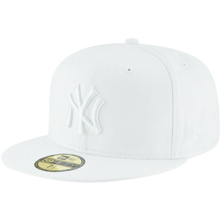 New York Yankees New Era Primary Logo Basic 59FIFTY Fitted Hat - White