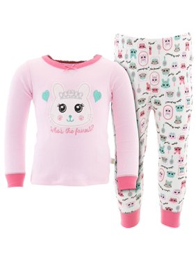 Duck Duck Goose Little Girls' Light Pink Who is the Fairest Pajamas