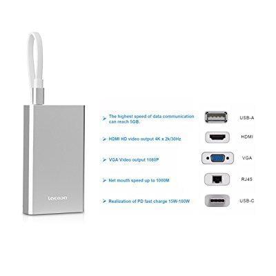 boddenly premium usb-c hub video converter support usb-a/...