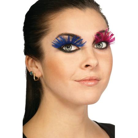 Women's  Long Blue Full Feathery Fake Costume Eyelashes
