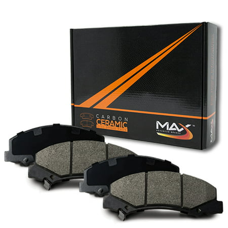 Max Brakes Rear Carbon Ceramic Performance Disc Brake Pads KT022052 | Fits: 2003 03 2004 04 GMC Sierra 1500 6 Lugs Rotors Single Piston Rear Calipers - image 6 de 6