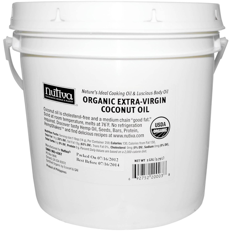 Nutiva Organic Extra-Virgin Coconut Oil, 1 gal
