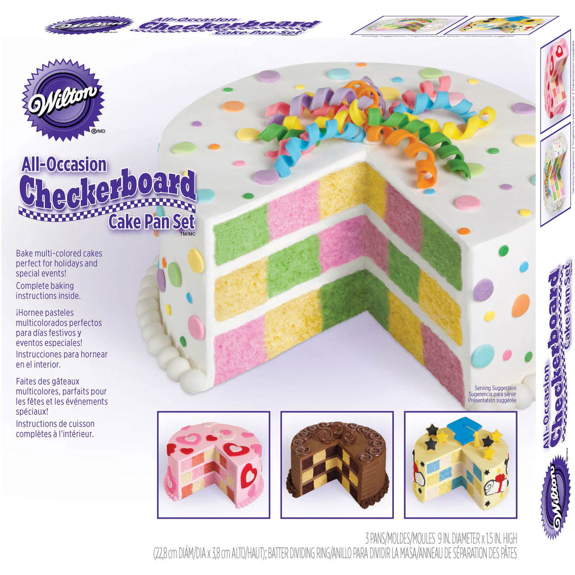 Multicolor Nordic Ware Checkerboard Cake Ring