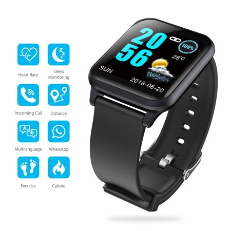 EEEKit Waterproof Bluetooth Smartwatch Touchscreen Smart Wrist Watch with Heart Rate & Sleep Monitoring, Pedometer, GPS, Ultra-Long Battery Life, Compatible with iOS iPhone Android