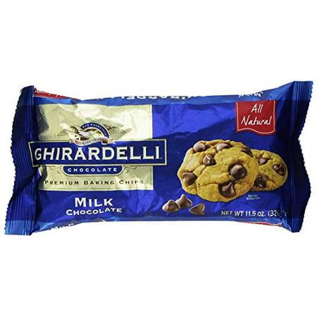 Ghirardelli Chocolate, Premium Baking Chips, Milk Chocolate (Pack of 20)