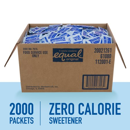 Equal Artificial Sweetener ((2000 Packets) Equal Zero Calorie Sweetener, Sugar Substitute)