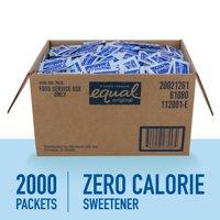 (2000 Packets) Equal Zero Calorie Sweetener, Sugar Substitute