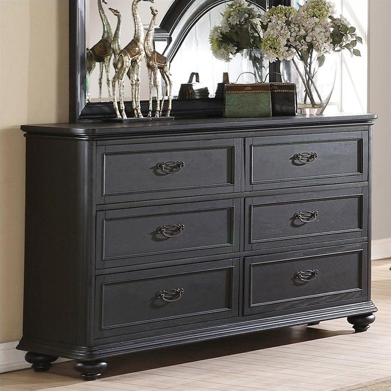 Riverside Furniture Belmeade Six Drawer Dresser in Raven ...