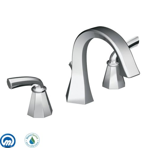 Moen TS448 Double Handle Widespread Bathroom Faucet from the Felicity Collection