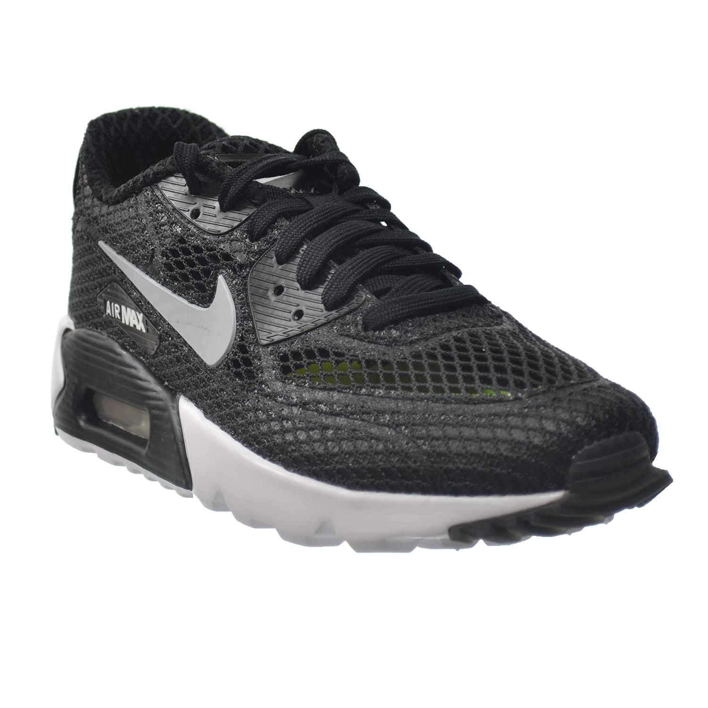 Nike Air Max 90 Ultra BR Plus QS Men's Running Shoes Black/Wolf Grey-White-Volt 810170-002