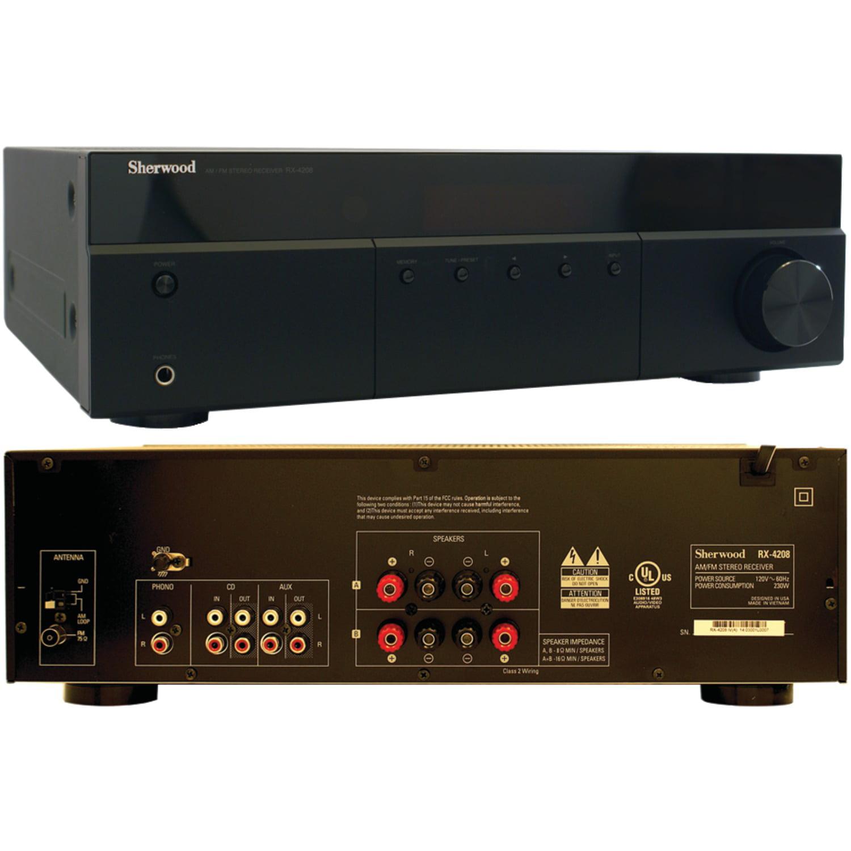 Sherwood RX-4208 200-Watt AM FM Stereo Receiver & UPG AAA 50 Pack by Sherwood