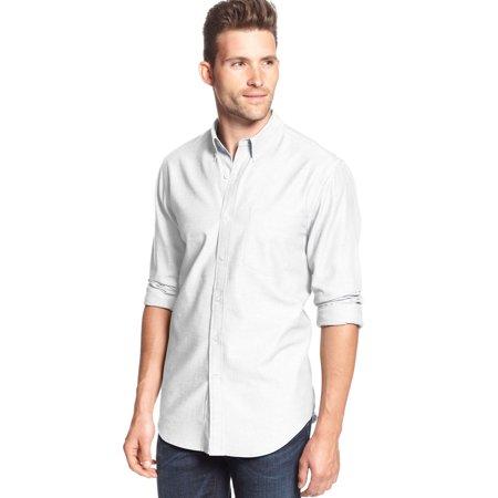 White Button Down Shirt (Slim Fit Herringbone Button-Down Shirt Bright White XXL 2XL)