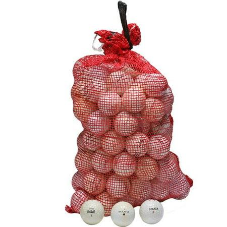 MIX Golf Balls Mix of Brands, White, 96-Balls with Onion Bag