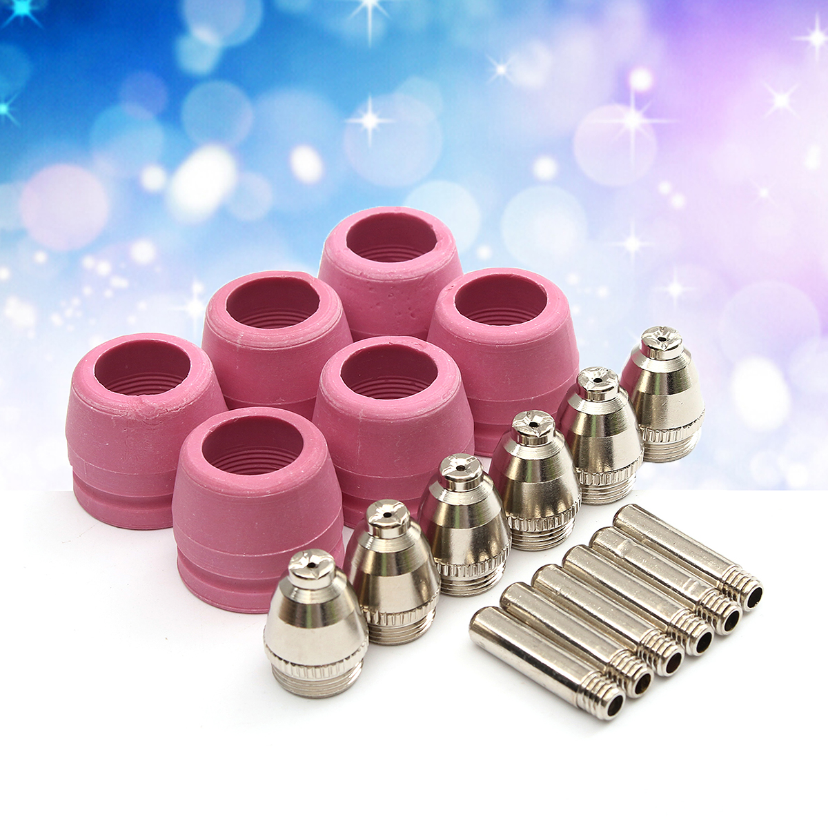 18Pcs Plasma Cutter Torch Consumables Nozzle Tip Electrode For AG60 / SG55 Welding Parts and Accessories
