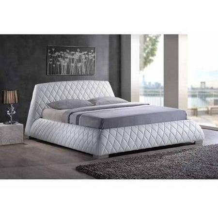 Baxton Studio Paragon Queen Platform Bed, White
