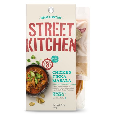 Indian Grill Chicken (Street Kitchen Chicken Tikka Masala Indian Scratch Kit, 9 oz )